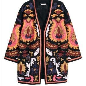 H&M Trend Studio Embroidered Kimono Jacket
